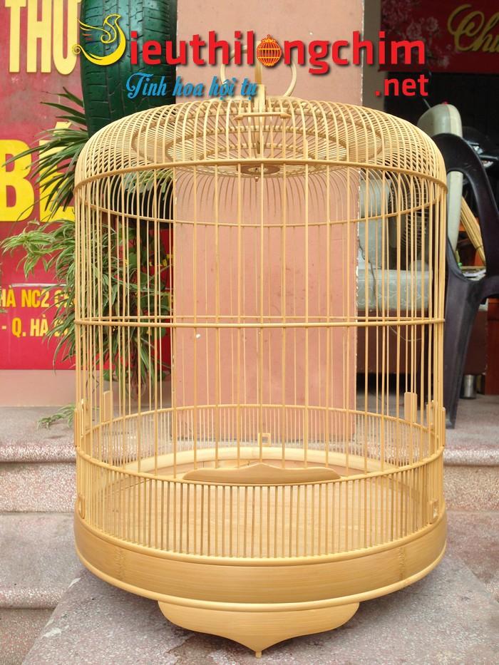 Lồng chim Chòe Than trúc cật siêu kỹ size 40cm