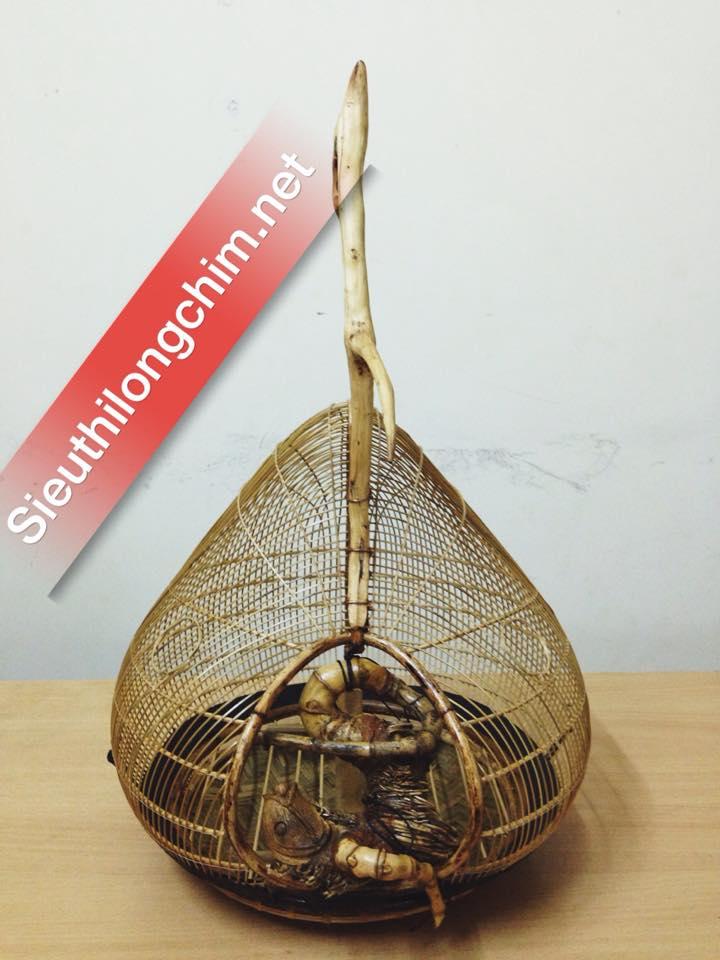 Lồng gáy quả đào móc gỗ tự nhiên thủ công 100%