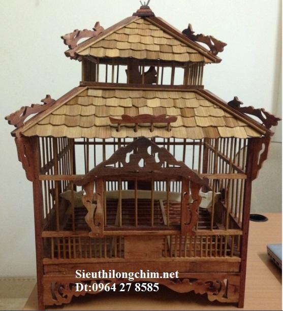 Lồng gáy chùa,thân gỗ, mái trúc