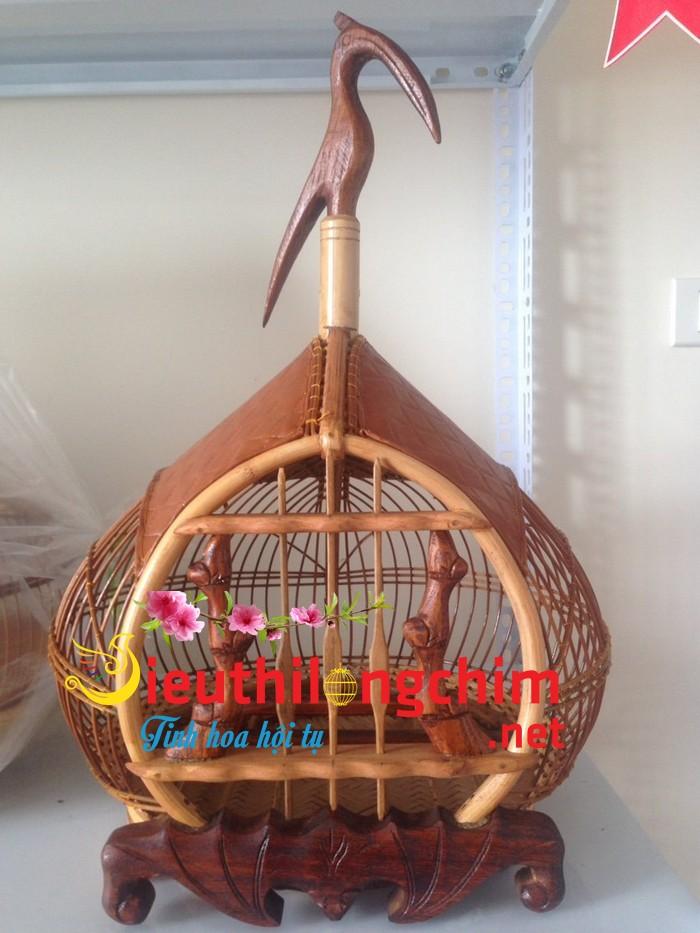 Lồng chim cu gáy quả đào cửa dơi chân quỳ size 36